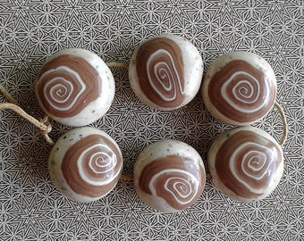 Polymer Clay Beads Set of 6