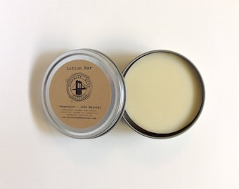 Peppermint Lotion Bar - Organic Lotion Bar - Solid Lotion - Shea Butter Lotion - Balm Bar - Body Balm - Dry Cracked Skin - Intensive Healing