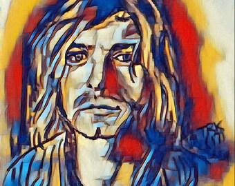 Kurt cobain print 27 club