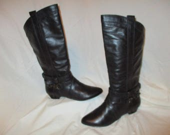 Aldo leather riding style boots