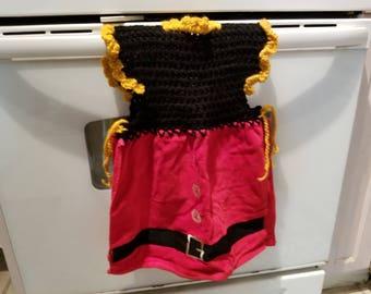 Dressy crocheted kitchen or bathroom hand towel - 144