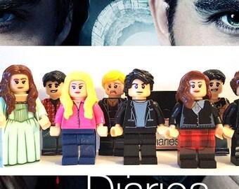 Custom The Vampire Diaries Mini Figures,Block Toys,Cake Topper,Damon Minifigures,Toys,Easter Gift,TVD,Elena,Stefan