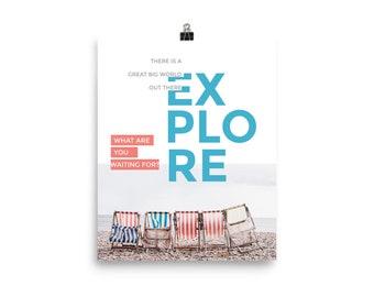 Explore the Big World Poster