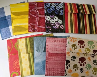 10 mini assorted envelopes