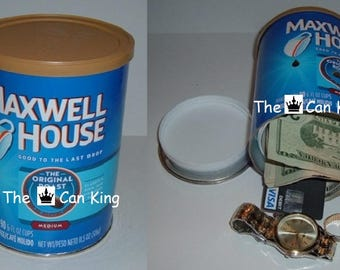 MAXWELL HOUSE COFFEE can safe stash diversion safes hide cash money Piggy Bank
