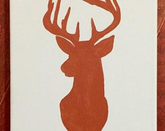 Boys Deer theme nursery art!