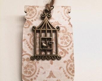 Bronze Birdcage Bookmark