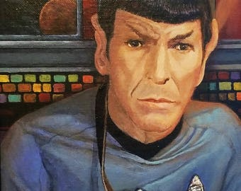 "Star Trek Art Star Trek Print Spock Original Star Trek Crew Star Trek Wall Art 8x10"" print"