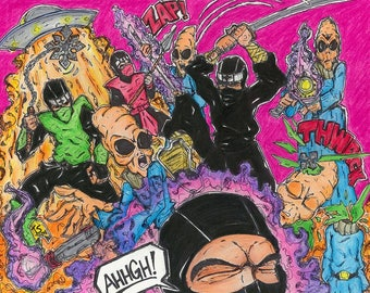 Neon Carnage (11x14 Print)