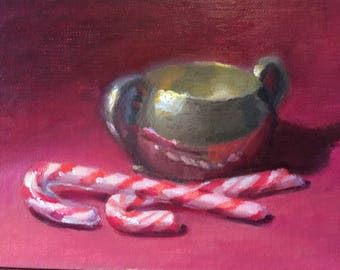 Candy Canes and Tarnished Bowl