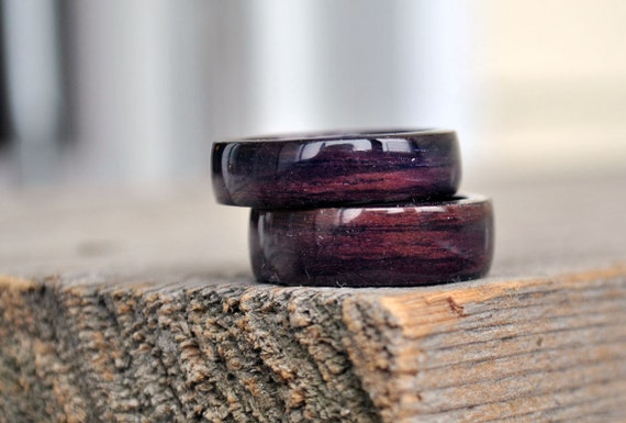 il rings fiber rosewood cocobolo curly fullxfull listing bands wood inlay carbon zoom maple