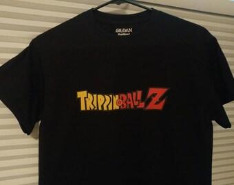 TrippinBallZ Trippin Ball Z Mens LSD 25 Acid Blotter Art Graphic T Shirt