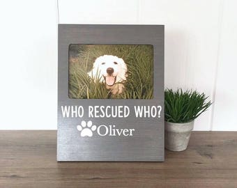 Personalized Dog Picture Frame, Rescue Dog Gift, Gift for Dog Mom, Dog Memorial, Dog Lover Gift, Pet Memorial, New Puppy Gift, Dog Adoption