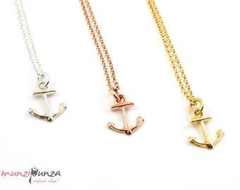 Ahoy! Chain anchor 925 silver, gilded art. 212