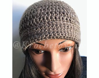 Crochet beanie hat/ Fall crochet beanie/ Winter crochet beanie/ Crochet fall accessory/ Crochet adult beanie