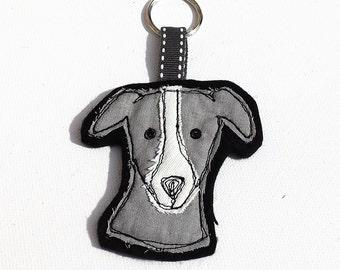Whippet Greyhound keyring bag charm