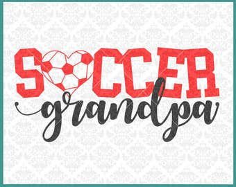 CLN0330 Soccer Grandpa PePaw Grandfather Family Shirt SVG DXF Ai Eps PNG Vector INstant Download Commercial Cut File Cricut Silhouette