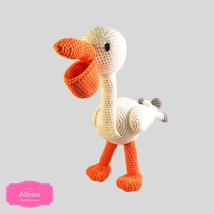 Pelican Crochet Pattern Amigurumi Crochet Tutorial Pdf File Pink