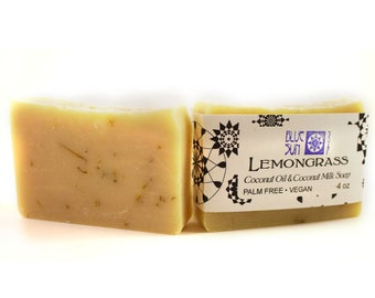 Lemongrass Calendula Handcrafted Soap with Coconut Milk - Vegan Soap - Essential Oil Soap - Artisan Soap