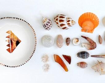 RAVI - Pyramid Jewellery Bowl - Copper Lustre - Stoneware clay