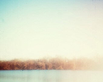 winter, lake, nature, sunlight, fine art photography
