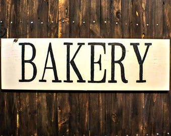 Rustic Wood Bakery Sign