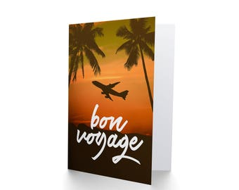 Bon Voyage Card, Goodbye Card, Leaving Card, Travelling Card, Friend Leaving, Backpacking Card CP3290