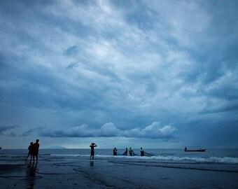 Bali fishermen on the beach of Seririt photography print fine art