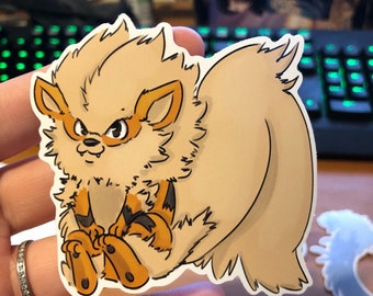 Pokemon Arcanine Vinyl Sticker
