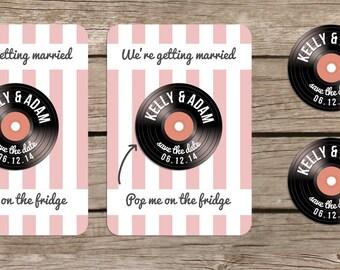 Vinyl design Save the Date Magnet