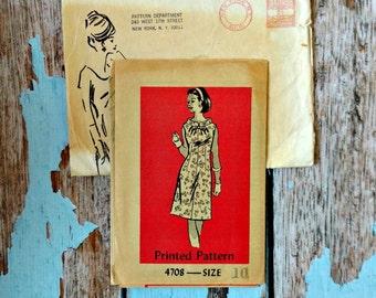 Vintage Pattern - Anne Adams 4708 - AA4708 - Dress Pattern - Sheath Dress - Mail Order Pattern - 1960s Day Dress Pattern