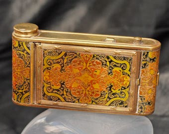 Antique and Intact 1920's Camera Compact & Lipstick Holder