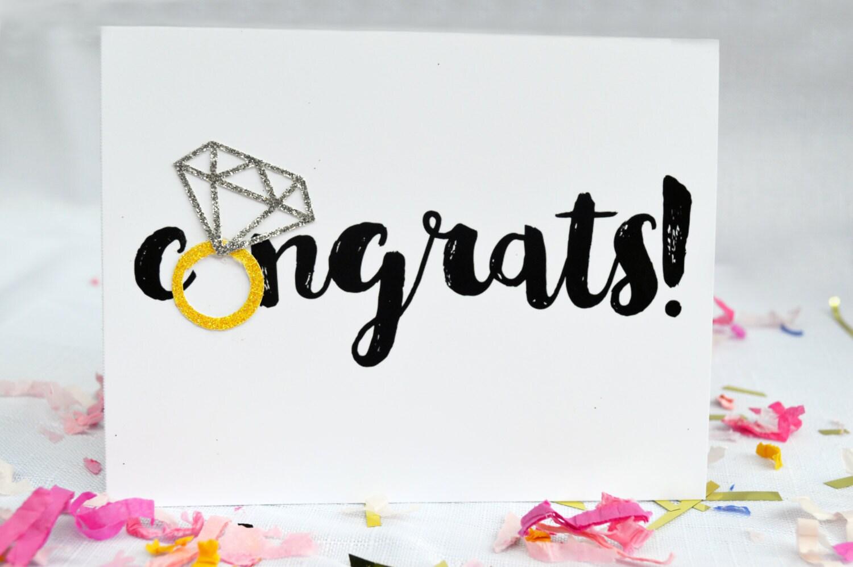 Felicidades compromiso anillo tarjeta / Felicitaciones del