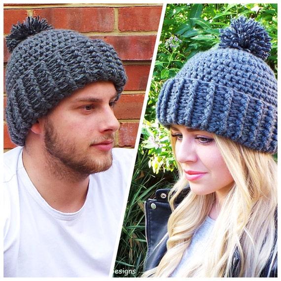 Hard Rock Crochet Hat Pattern Unisex Crochet Hat Pattern Mens