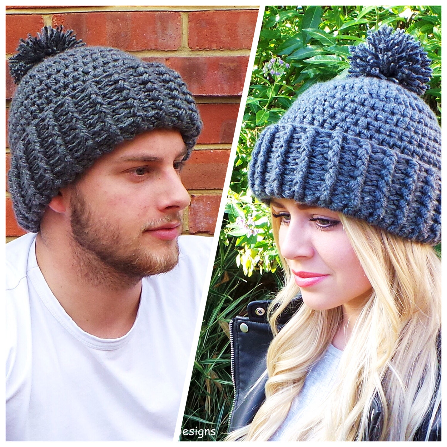 Hard rock crochet hat pattern unisex crochet hat pattern mens zoom bankloansurffo Gallery