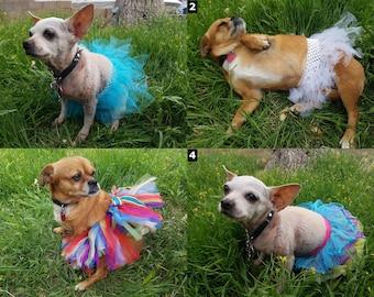 Dog Tutu / Handmade Skirts - SELECT SIZE - Ballerina Skirt Clothing Costume