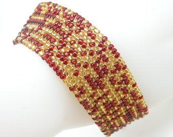 Court Jester/Herringbone Bracelet/Beaded Bracelet/Accessory/Royal/Gift for Her/On Sale