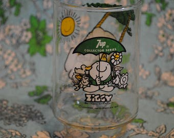 1977 7up and Ziggy glass