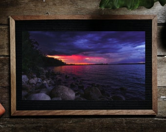 Nature Photography, Lake, Water View, Beautiful, Sunset, Camping Cite, Rocky Shore