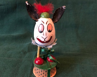 Old Funny Bunny Easter Candy Container