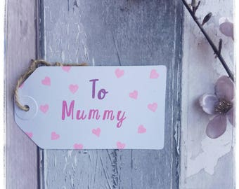 Mothers Day gift tag - Mummy Gift Tag - Mummy Birthday -  Gift Tags - Blank Tag - Gift Tag Birthday - Gift Wrap - Crafts By Blossom