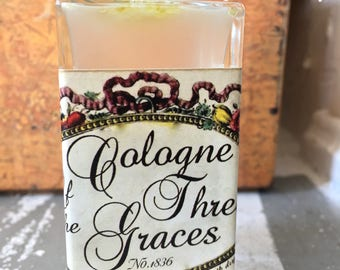Cologne Of The Three Graces - Napoleon's Cologne -Fruity Citrus Cologne Water With A Hint Of Flower Blossoms From 1836 Natural Essential Oil