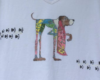 """Dog of the season"" white t-shirt, size 42-44"