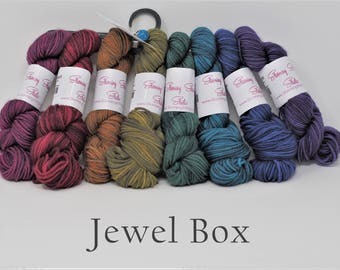 Stunning Bundles minis or full skeins in Color Bundles on your choice of base