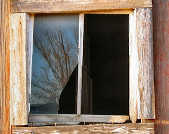 Rustic barn window