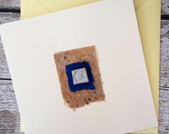 Hand made ceramic gift card.  Bespoke design. Wedding, Mother's Day, anniversary, birthday, christmas.