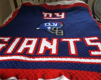 NY Giants afghan