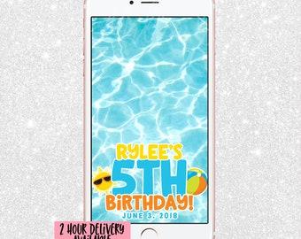 Pool Party Snapchat Filter - Pool Snap Chat GeoFilter - Pool Bday Filter - Pool Birthday Snapchat Filter - Geofilter - Summer Party Snap
