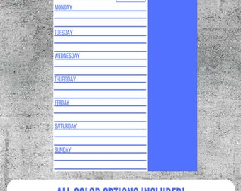 Printable Meal Prep List, Meal Prep, Meal Planning, Meal Plan,