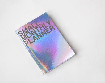 Small Monthly Planner [ Hologram / Kraft ]/ Monthly Schedule / Diary / Kraft Monthly Planner / Undated Planner / Journal / Diary / Agenda